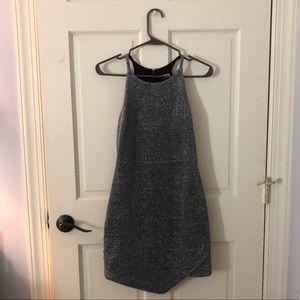 express grey/silver shimmer dress